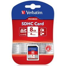 8GB Class 10- VERBATIM SDHC