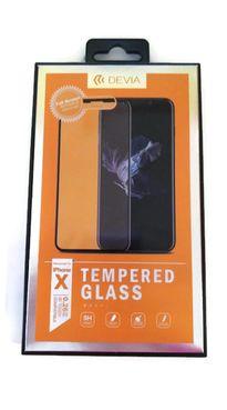 DEVIA iPhone X, čierne - Tvrdené 3D sklo Temperované