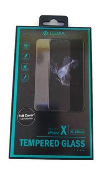 DEVIA iPhone X, transparentné - Tvrdené 3D sklo Temperované