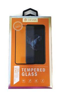 DEVIA iPhone XS MAX, čierne - Tvrdené 3D sklo Temperované