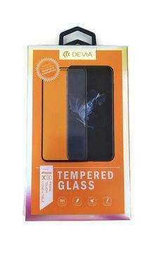 DEVIA iPhone XS, čierne - Tvrdené 3D sklo Temperované