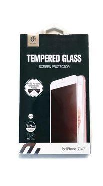 DEVIA iPhone 8/7, biele - Tvrdené 3D sklo Privacy