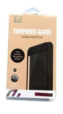 DEVIA iPhone 8/7, čierne - Tvrdené 3D sklo Temperované